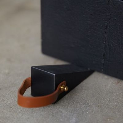 Steel + Leather Door Stop