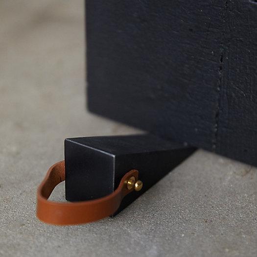 View larger image of Steel + Leather Door Stop
