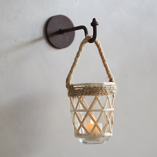 View larger image of Hanging Geo Rattan Votive