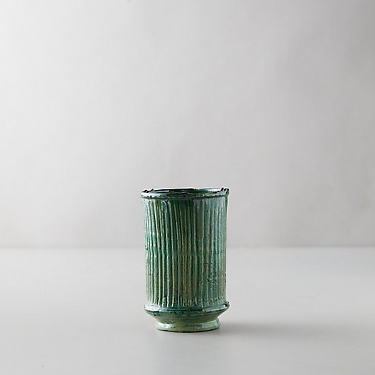 View larger image of Ceramic Moroccan Vase, Green