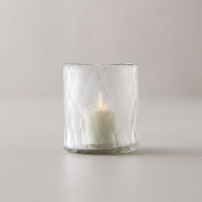 Etched Glass Tea Light Holder