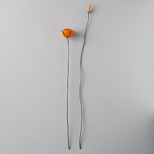 View larger image of Iron Flower Stakes, Set of 2