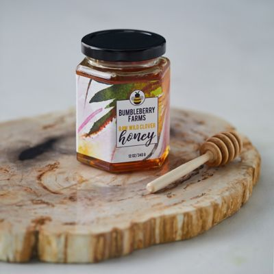 BumbleBerry Honey, Hexagon Jar