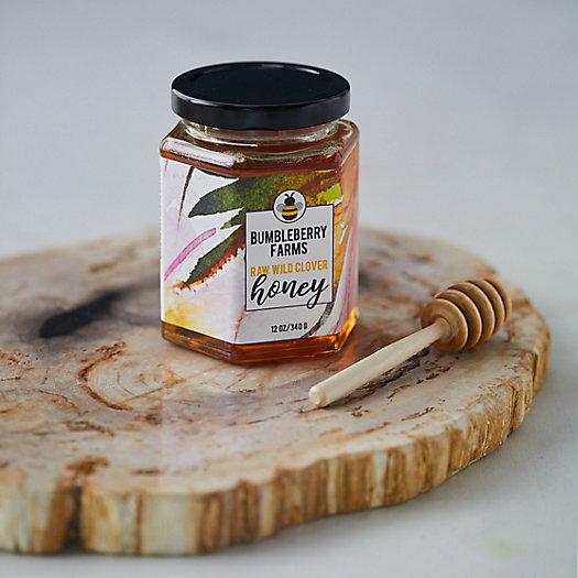 View larger image of BumbleBerry Honey, Hexagon Jar