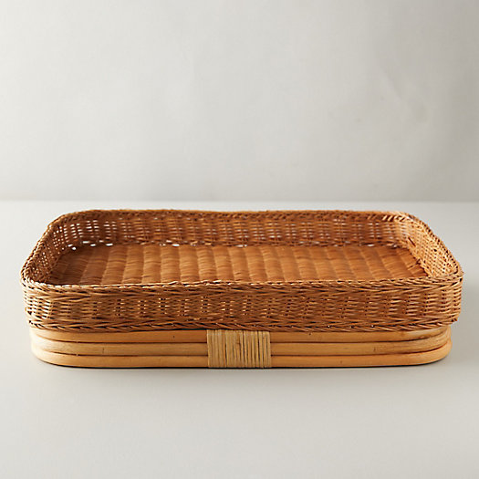 View larger image of Woven Rattan Serving Tray