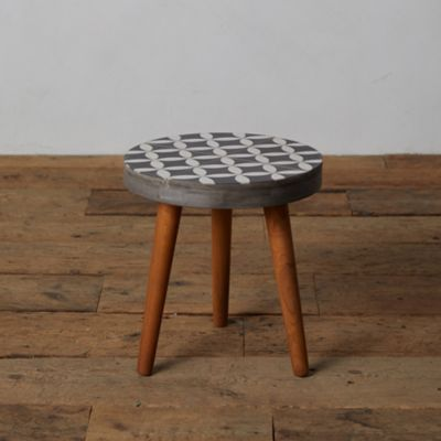 Cove Concrete + Wood Side Table