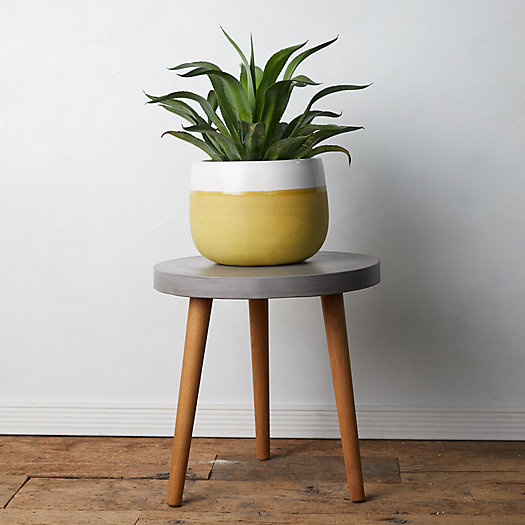 View larger image of Concrete + Acacia Wood Side Table