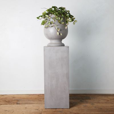Concrete Column Plant Stand