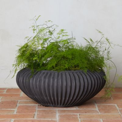 Fiber Concrete Bowl Planter