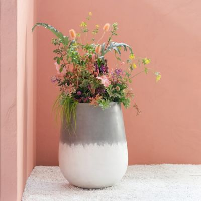 Tall Rounded Fiber Planter