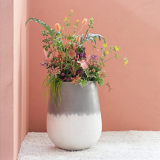 View larger image of Tall Rounded Fiber Planter