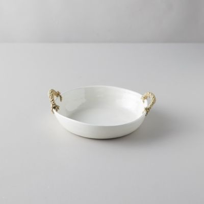 Ceramic Wrapped Handle Serving Bowl