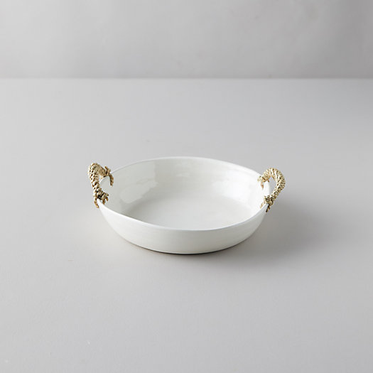 View larger image of Ceramic Wrapped Handle Serving Bowl