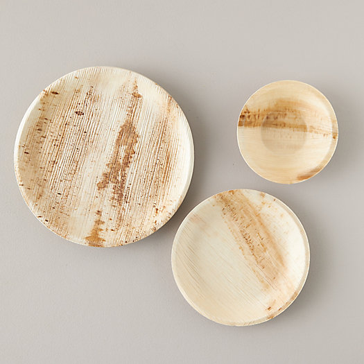View larger image of Disposable Palm Leaf Dinnerware Sets
