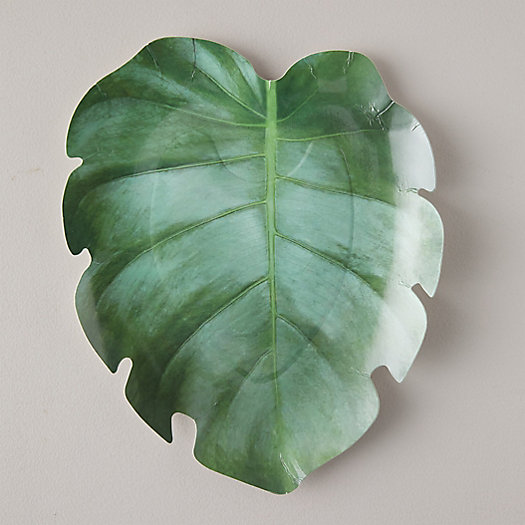 View larger image of Monstera Leaf Paper Plates, Set of 8
