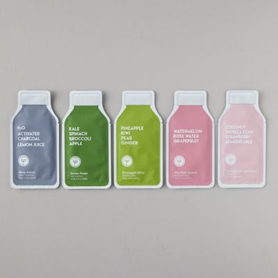 Juice Cleanse Sheet Masks, Set of 5