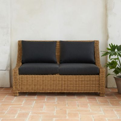 Hillside Wicker Two Seat Sofa
