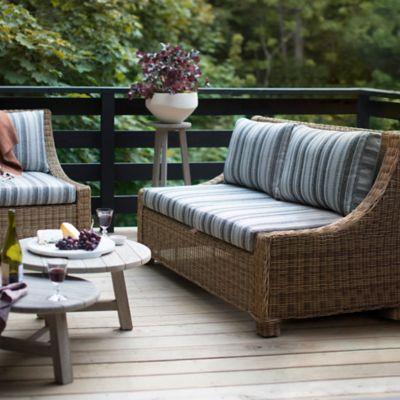 Hillside Wicker Two Seat Sofa