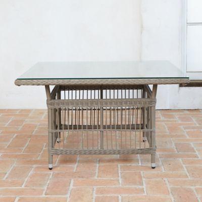 Trellis Weave Wicker Lounge Dining Table