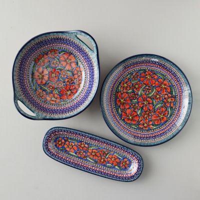 Spring Poppies Ceramic Serving Bowl