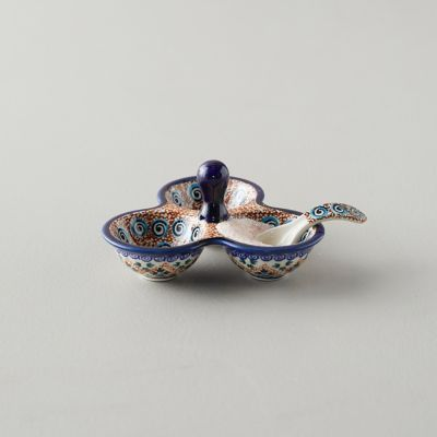 Tiled Flora Ceramic Salt Cellar
