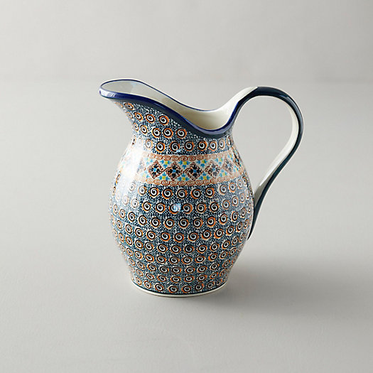 View larger image of Tiled Flora Ceramic Pitcher
