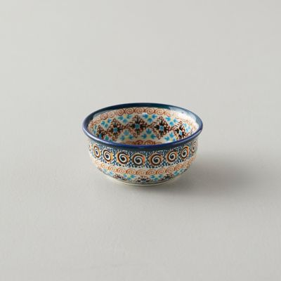 Tiled Flora Pinch Bowl, Teal