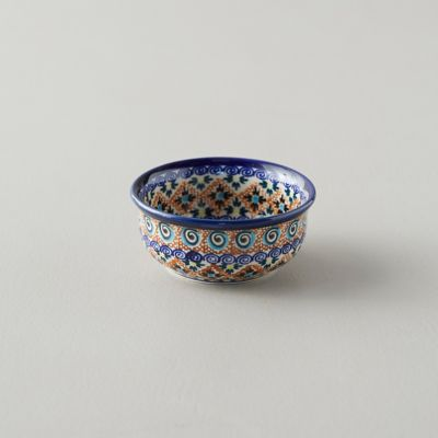 Tiled Flora Ceramic Pinch Bowl, Cobalt
