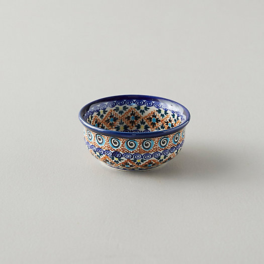 View larger image of Tiled Flora Ceramic Pinch Bowl, Cobalt