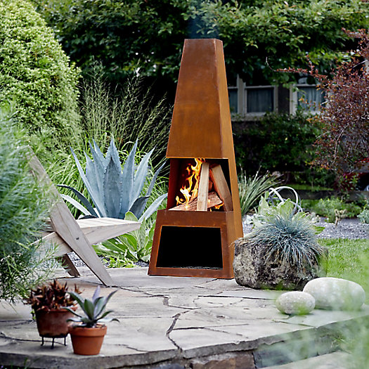 View larger image of Weathering Steel Pular Chiminea