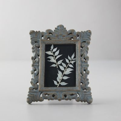 Distressed Wood Frame, Blue