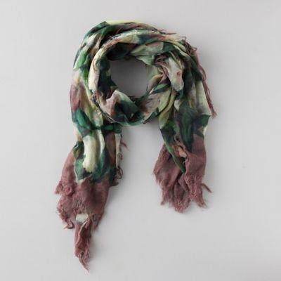 Manet Flowers Wool Scarf