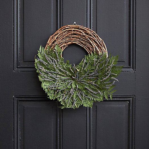View larger image of Asymmetrical Fern + Lavender Wreath
