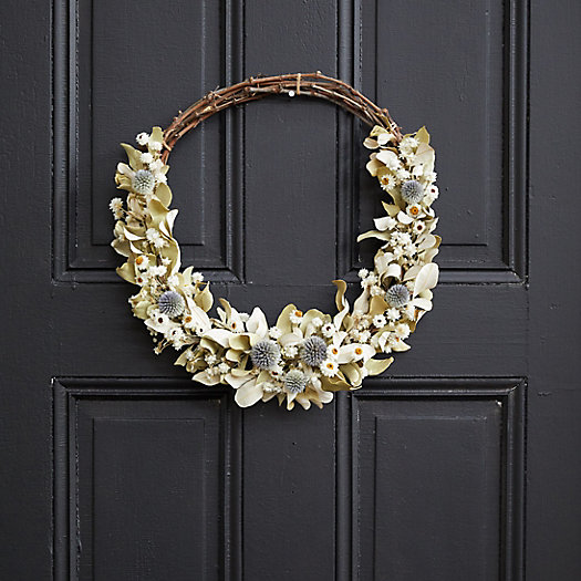 View larger image of Asymmetrical Bleached Thistle Wreath