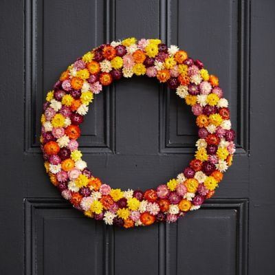 Preserved Strawflower Wreath
