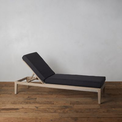 Vista Slatted Teak Outdoor Chaise Cushion