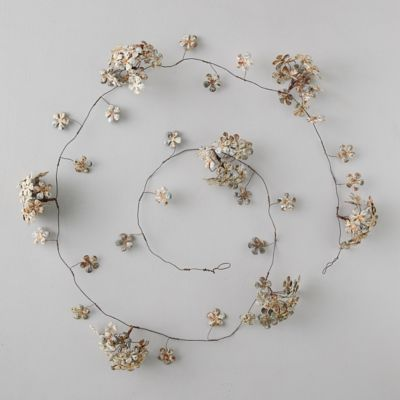 Aged Iron Flower Bunch Garland