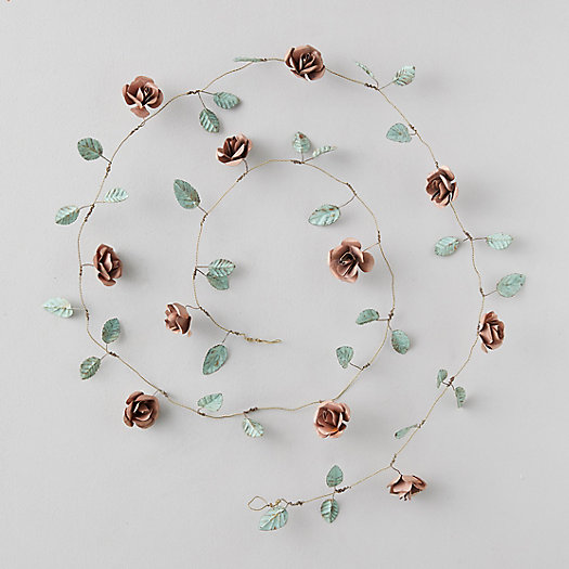 View larger image of Aged Iron Tea Rose Garland