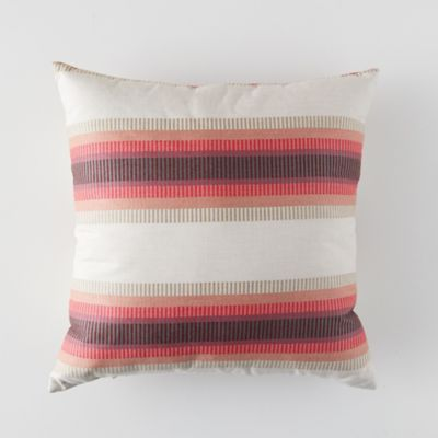 Banded Pomegranate Outdoor Pillow