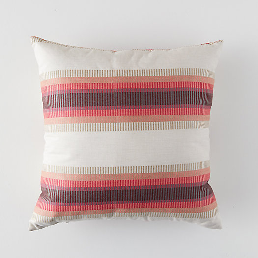 View larger image of Banded Pomegranate Outdoor Pillow