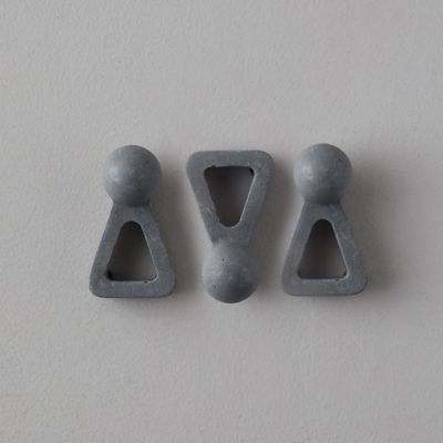 Concrete Pot Feet, Set of 3