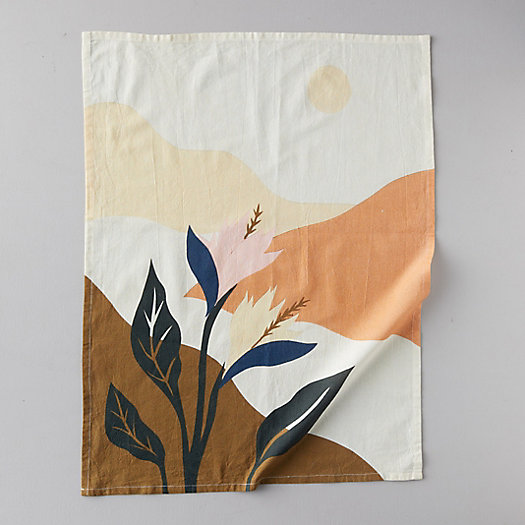 View larger image of Blooms + Leaves Cotton Tea Towel