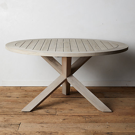 View larger image of Cross Leg Teak Round Dining Table