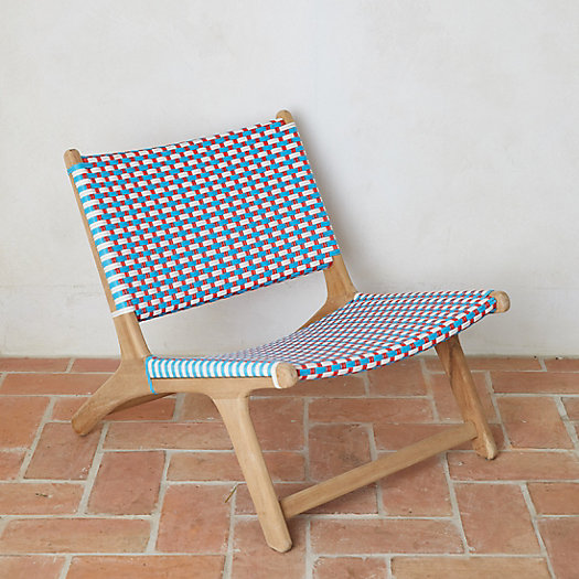 View larger image of Havana Wicker + Teak Armless Chair