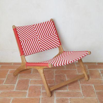 Havana Wicker + Teak Armless Chair