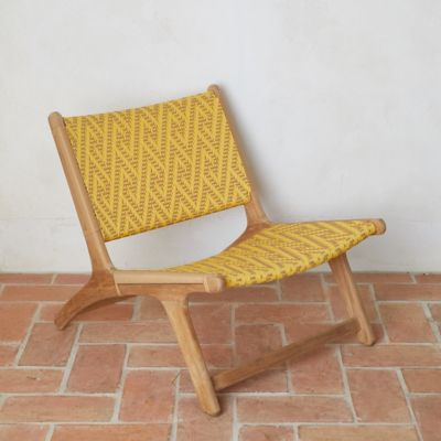 Havana Wicker + Teak Armless Chair