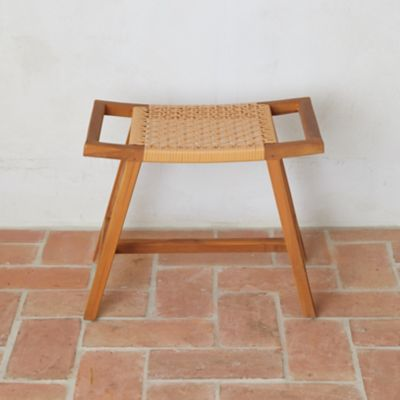 Havana Wicker + Teak Stool