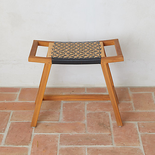 View larger image of Havana Wicker + Teak Stool
