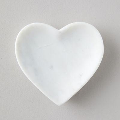 Marble Stone Heart Soap Dish