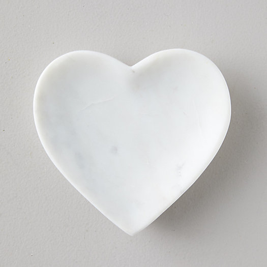 View larger image of Marble Stone Heart Soap Dish